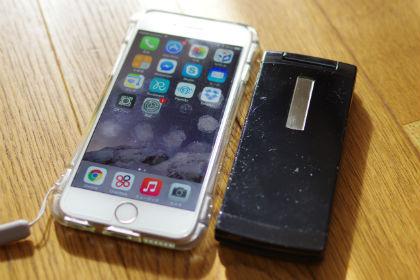 iPhone6+ガラケー
