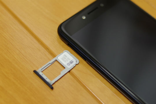 Zenfone Live SIMスロット
