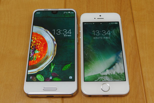 AQUOS R compactとiPhoneSE 比較