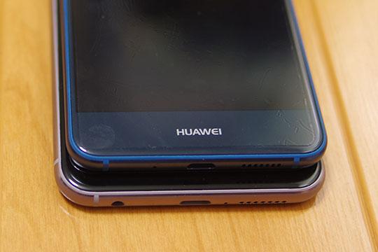 ZenFone5とP10 lite サイズ比較